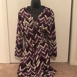 Adorable charming Charlie's wrap dress szXL purple